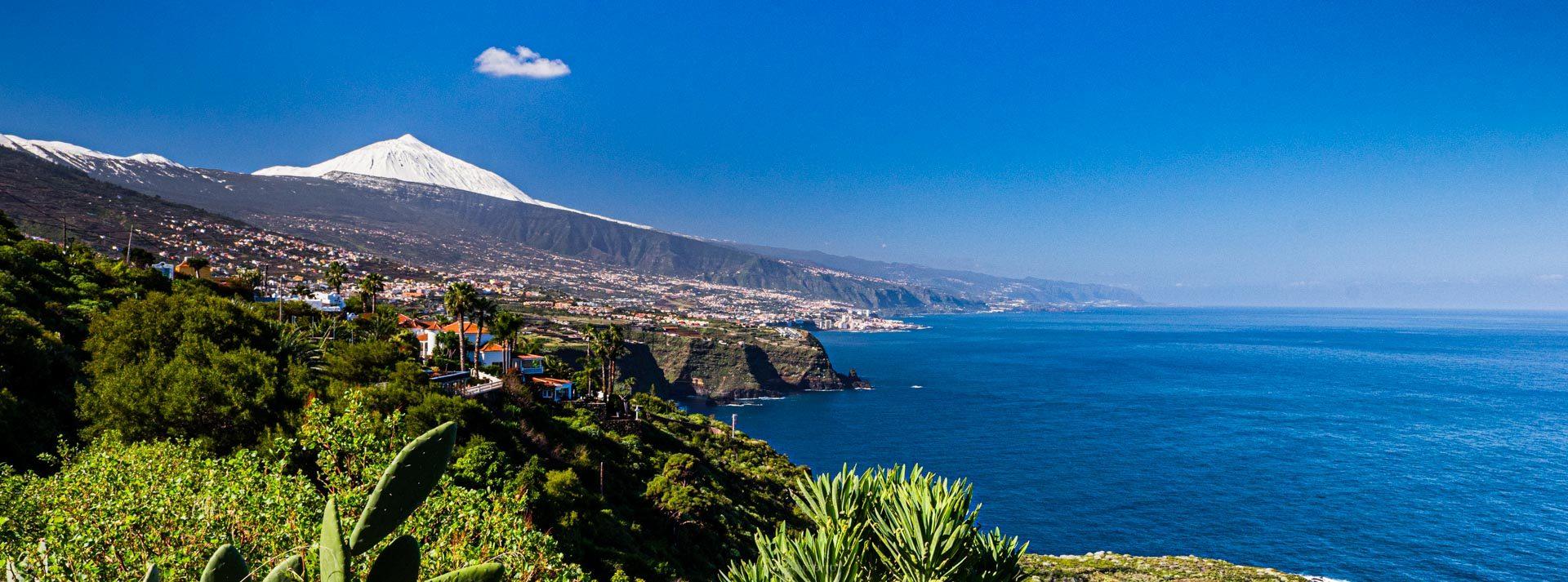 Teide y costa norte de Tenerife