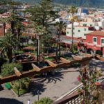 View of Mount Teide and the church square from one of our rooms